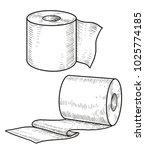 toilet paper illustration ... | Shutterstock .eps vector #1025774185