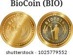 set of physical golden coin... | Shutterstock .eps vector #1025779552