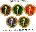 set of physical golden coin... | Shutterstock .eps vector #1025779816