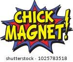 a chick magnet | Shutterstock .eps vector #1025783518