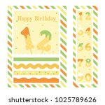 birthday party invitation card  ... | Shutterstock .eps vector #1025789626
