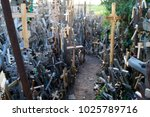 some alley on hill of crosses ...   Shutterstock . vector #1025789716