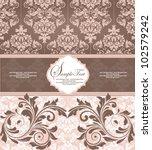 pink vintage damask invitation...   Shutterstock .eps vector #102579242