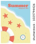 summer holiday concept vector... | Shutterstock .eps vector #1025794426
