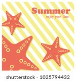 summer holiday concept vector... | Shutterstock .eps vector #1025794432