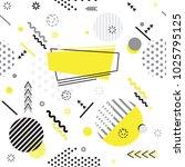 trendy memphis style geometric... | Shutterstock .eps vector #1025795125