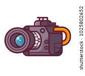 modern dslr camera icon.... | Shutterstock .eps vector #1025802652
