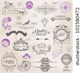 vector set  calligraphic design ... | Shutterstock .eps vector #102580472