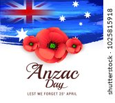 illustration of anzac day... | Shutterstock . vector #1025815918