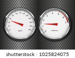 speedometer and tachometer. on... | Shutterstock .eps vector #1025824075