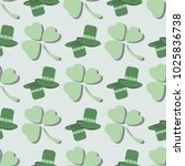 seamless pattern consisting of... | Shutterstock .eps vector #1025836738