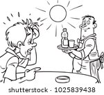 thirsty man seeks water | Shutterstock .eps vector #1025839438