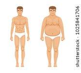 visualization of weight loss....   Shutterstock . vector #1025841706