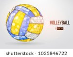 Silhouette Of A Volleyball Bal...
