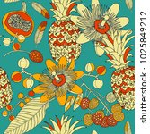 tropical seamless pattern... | Shutterstock .eps vector #1025849212