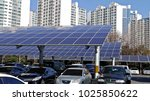 solar panel installed in... | Shutterstock . vector #1025850622
