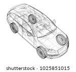 Car Sketch. Vector Rendering Of ...