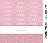 Pink Vector Card Invitation Fo...
