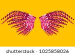 brazil carnival. beautiful pink ... | Shutterstock .eps vector #1025858026