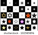 set of stars on a black and... | Shutterstock .eps vector #102585896