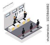 special agents in headphones... | Shutterstock .eps vector #1025866882