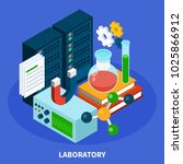 science isometric concept with... | Shutterstock .eps vector #1025866912