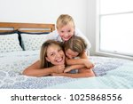 young blond caucasian woman... | Shutterstock . vector #1025868556