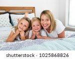 young blond caucasian woman... | Shutterstock . vector #1025868826