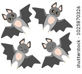 bat set vector illustration | Shutterstock .eps vector #1025870326