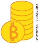 bitcoin crypto currency icon or
