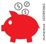 dollar currency icon or logo... | Shutterstock .eps vector #1025892862