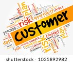 customer word cloud  business... | Shutterstock . vector #1025892982