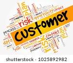 customer word cloud  business... | Shutterstock . vector #1025892982