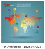 world map infographics in... | Shutterstock .eps vector #1025897326