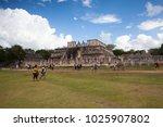 chichen itza  mexico   january... | Shutterstock . vector #1025907802