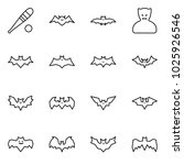 flat vector icon set   bat... | Shutterstock .eps vector #1025926546