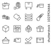 flat vector icon set   gift... | Shutterstock .eps vector #1025926666