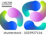 abstract digital hologram style ... | Shutterstock .eps vector #1025927116