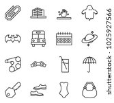 flat vector icon set   clip... | Shutterstock .eps vector #1025927566