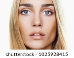beautiful young blond woman... | Shutterstock . vector #1025928415