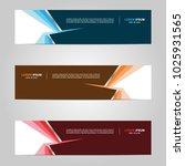 modern banner template design ... | Shutterstock .eps vector #1025931565