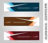 modern banner template design ... | Shutterstock .eps vector #1025931598