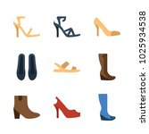 icons woman footwear. vector... | Shutterstock .eps vector #1025934538