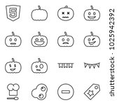 flat vector icon set   html5... | Shutterstock .eps vector #1025942392