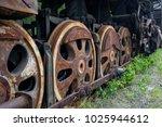 old rusty steam locomotive in... | Shutterstock . vector #1025944612