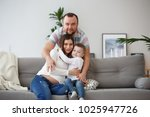 picture of happy family with... | Shutterstock . vector #1025947726