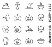 flat vector icon set   zombie... | Shutterstock .eps vector #1025948182
