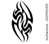 tribal pattern tattoo vector... | Shutterstock .eps vector #1025952355