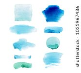 set of watercolor hand drawn...   Shutterstock .eps vector #1025967436
