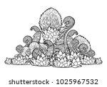 graphic design with prehistoric ... | Shutterstock .eps vector #1025967532